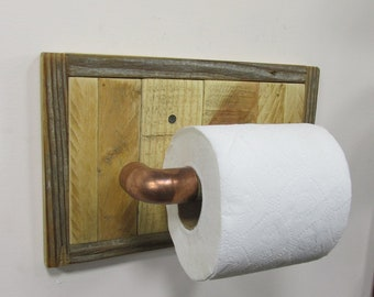 Toilet Paper Holder Toilet Tissue holder Towel holder Stand holder Handmade Farmhouse Beach Storage Towel Rack Reclaimed Wood Bathroom Decor