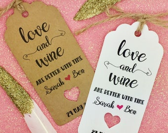 Wine Gift Tags Wedding Favour Tags, Alcohol