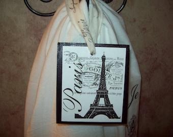 Shabby Eiffel Tower ornament hanging,Paris theme,Paris decor,Paris Christmas decor,Paris party decor,Paris bedroom decor