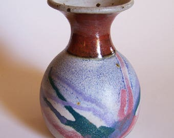 Small Stoneware Pottery Vase - Studio S Pottery - Lewis Snyder  - Made in Murfreesboro, TN