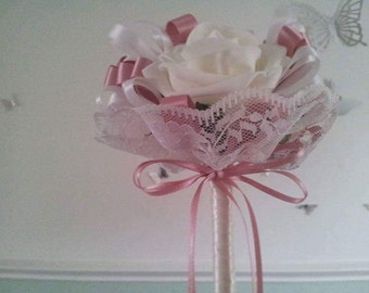 Bridesmaid wand with lace, available most colours.