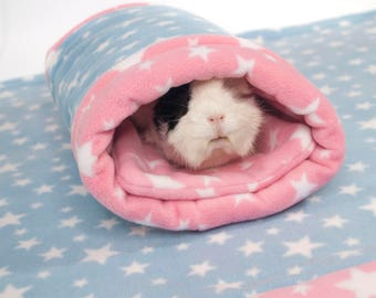 Guinea Pig Small Animal Fleece Accessory SQUISHY SOCK Tunnel Tube Bed Cosy