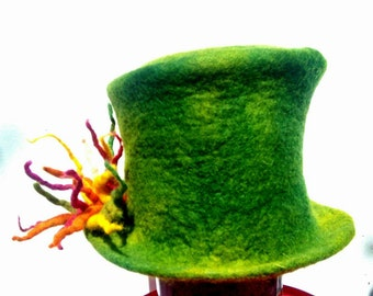 Green magic felt Top hat