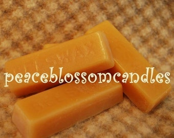 Pure Filtered Beeswax Craft bars 1 oz. size for sewing, cosmetics.