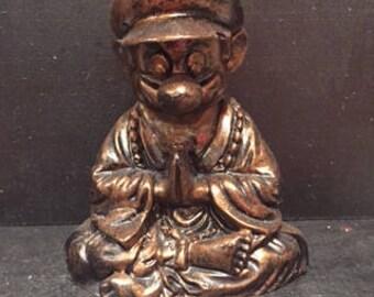 Bronze Super Mario  Buddha original  sculpt and cast Mario Bros