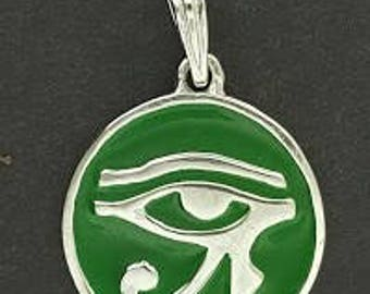 Eye of Ra Sterling Silver Pendant