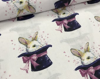 Bunny magician Cotton fabric,half meter width1.6 meters,bedding fabric,quilting cotton,patchwork fabric-0.5 / meter