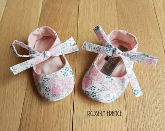 Liberty baby bliss pink ballerinas