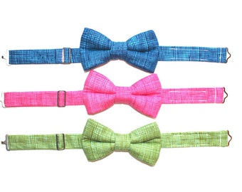 Blue Bow Tie, Boys Green Bow Tie, Easter Bow Tie, Pink bow Tie, Page Boy Outfit, Beach Wedding Outfit, Family Photo Outfit, Toddler Bow Tie