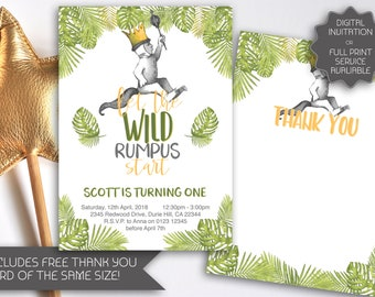 Where the Wild Things Are Invitation | Let the Wild Rumpus Start | Wild Things Invitation | Wild Things Birthday | Wild Things Max (112)