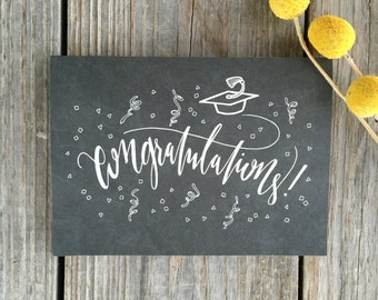College Graduation Card, High School Graduation Card, Congratulations Card