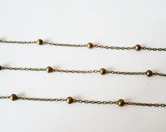 1 m fine bronze ball chain