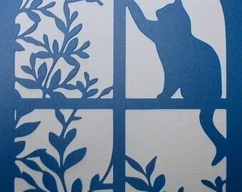 Cat Window Stencil