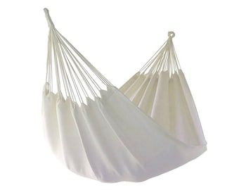 White handcrafted single hammock