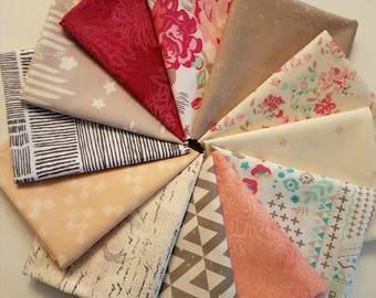 Fabric Bundle Art Gallery Fabrics Le Vintage Chic  - 12 Different Fabrics