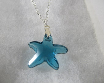 Swarovski Crystal Starfish Pendant