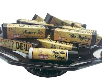 Vegan Lip Balm Bloodbath Lip Embalm CHOOSE FLAVOR Nut Oil Free