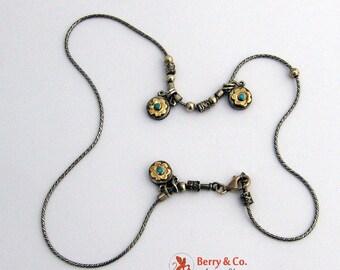 SaLe! sALe! Vintage Sterling Silver Floral Necklace Hand Made