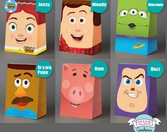 Printable Toy Story full paper bag KIT
