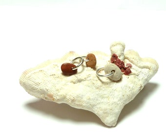 Drilled Beach Pebbles CARNIVAL River Rocks Beach Stones Focal Jewelry Bead Stone Collection Shimmer White Reds Lake Stone Pebble