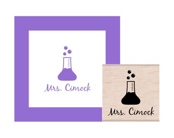 Science Teacher Personalized Rubber Stamp
