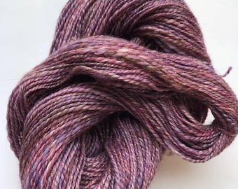 Hand Spun Merino and Silk Blend - LoobyLou Purple