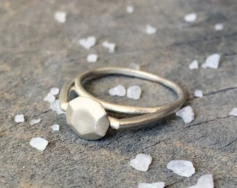 sterling silver rings - streling silver jewelry - 925 ring - 925 silver ring - geometric jewelry - minimalist jewelry - High Diamond S
