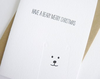 Have A Beary Merry Christmas – Letterpress Christmas Card