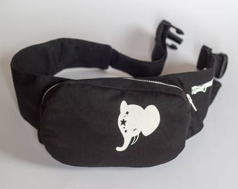 """durable Belt pouch, screen printing """"Elephant"""""""