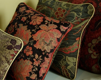 Custom Upholstery Fabric Pillow with Contrast Cording