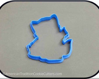 """4.25"""" Kitten with Basket 3D Printed Cookie Cutter"""