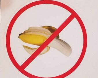 Aucun sticker banane, banane, superstition, pas de bananes sur les bateaux