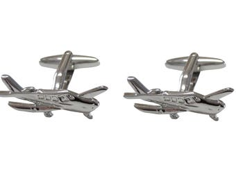 Cessna Airplane Cufflinks