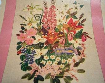Vintage Bouquet for Canada Crewel Kit