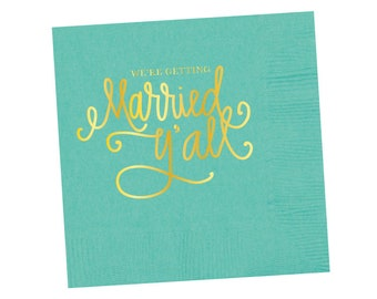 Napkins | We're Getting Married Y'all - Robin's Egg Blue  (in stock)