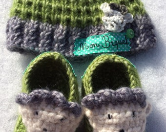 Baby Beanie and Baby Bootie Bundle - Mon Biquet