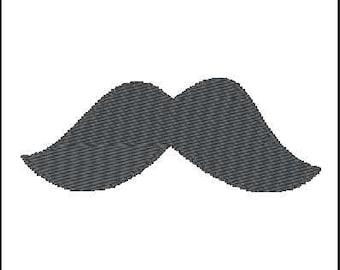 Fill Embroidery Design, Moustache, File, Digital, Download, Machine