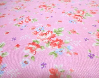 SALE Japanese Double Gauze Flower Rose Pink 1/2 yard
