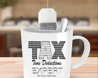 Funny Tax Time Deductions Gift - Must Haves - Deals - Quote - Large Coffee Mug