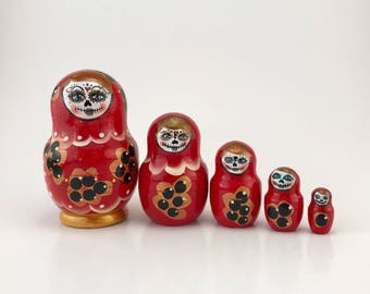 Day of the Dead Nesting Dolls