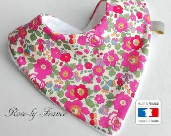 Genuine liberty Betsy pink bandana bib