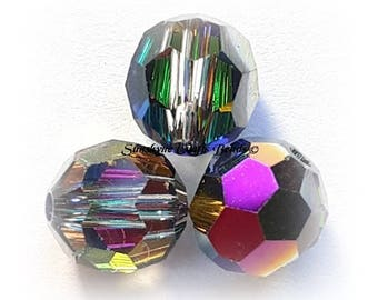 Swarovski Crystal Beads 5000 Series CRYSTAL VITRAIL MEDIUM Faceted Round Bead - Sizes 4mm, 6mm & 8mm available