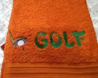 Serviette de golf à la main, serviette à la main, GOLF, golf