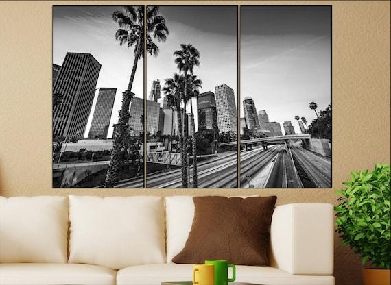 Los Angeles wall decor art  Los Angeles black white  Los Angeles canvas wall art  canvas wall art