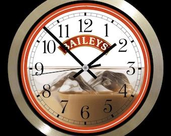 Baileys Bar home club large wall clock
