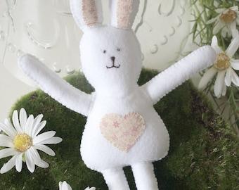 100% Handmade Felt Easter Bunny, Plush Gift, Easter Decoration, Cuddly Felt Rabbit Toy, Spring Rabbit Soft Toy, Perfect Easter Gift.