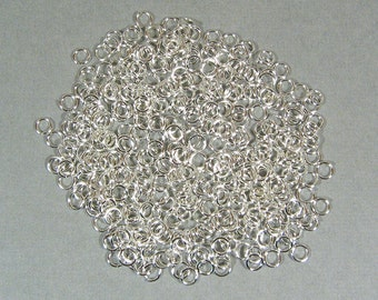 4mm Silver Plated Jump Rings - Choose Your Quantity