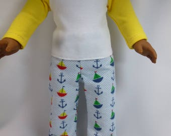 American Girl Doll Logan Pajamas