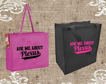Ask Me About Plexus grocery Tote Bag, Plexus Tote, Plexus Tote Bag, Plexus Bag, Plexus Totebag, Plexus Swag