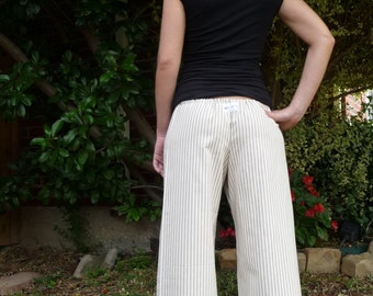 Sailor Samurai PANTS - Ticking Stripe - Made in ANY Size - Boutique Mia